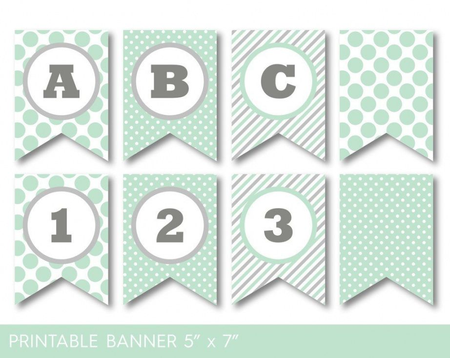 editable glamorous baby shower banner template luxury mint green and baby shower banner template pdf