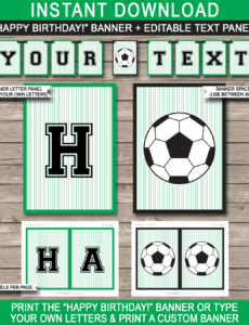 editable soccer party banner template soccer banner template doc