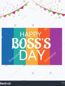 editable vector illustration banner happy bosss day stock vector boss day banner template
