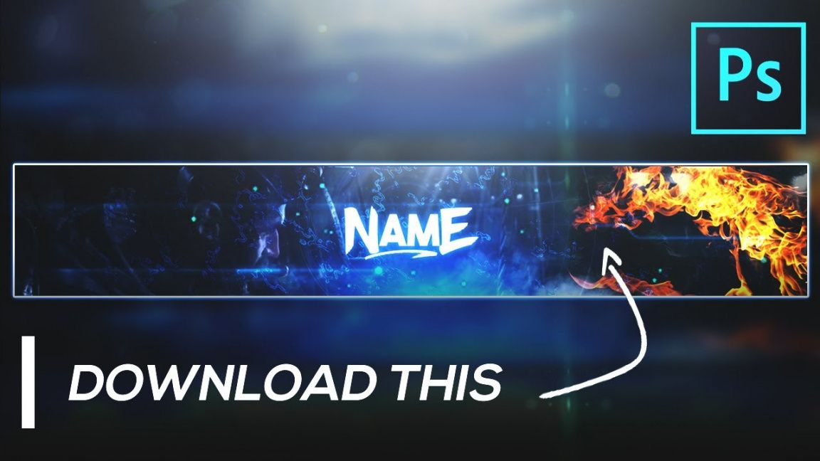 🔥 gaming banner template free gfx ⚡ cod pubg youtube channel art in  photoshop 2020 channel art banner template word