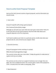 free 40 grant proposal templates nsf nonprofit research non profit project proposal template word