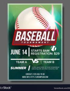free baseball poster banner advertising base royalty free vector baseball banner template excel