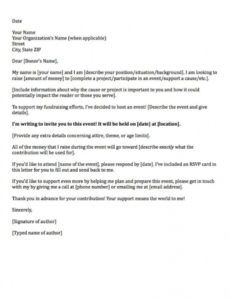 free donation request letters asking for donations made easy! donor proposal template word