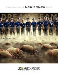 free dream team baseball photoshop template  tutorial ⋆ game changers by shirk  photography llc baseball banner template excel