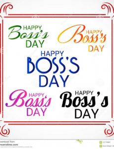 free happy boss`s day stock illustration illustration of poster boss day banner template doc