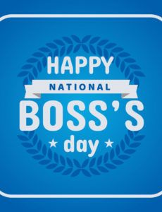 free happy national boss day poster  download free vectors boss day banner template example