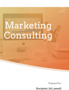 free marketing consulting proposal template  free sample marketing consulting proposal template