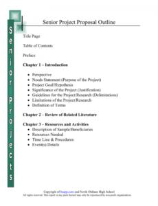 free senior project proposal outline non profit project proposal template doc