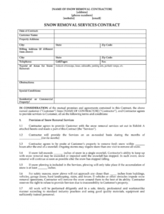 free snow removal contract  fill online printable fillable snow removal proposal template pdf