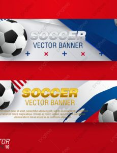 free soccer banners templates design for football sport team or soccer banner template example