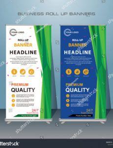 free vector de stock libre de regalías sobre creative roll standing banner template doc