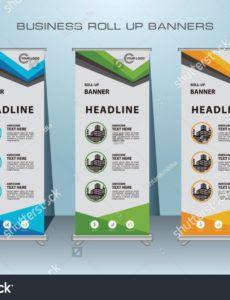 free vector de stock libre de regalías sobre modern roll banner standing banner template doc