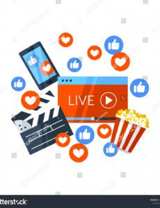 free vector de stock libre de regalías sobre vector live stream banner template word