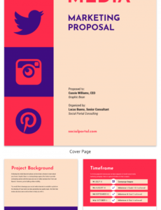 free vintage social media consulting proposal template marketing consulting proposal template word