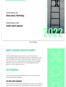 green modern marketing proposal template marketing consulting proposal template pdf
