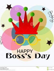 happy boss`s day stock illustration illustration of date boss day banner template word