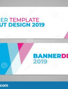 layout banner template design for winter sport event 2019 event banner template word