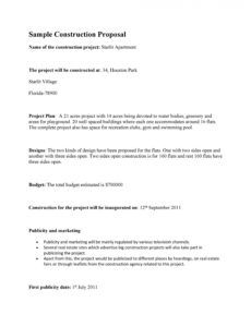 printable 31 construction proposal template & construction bid forms residential construction proposal template