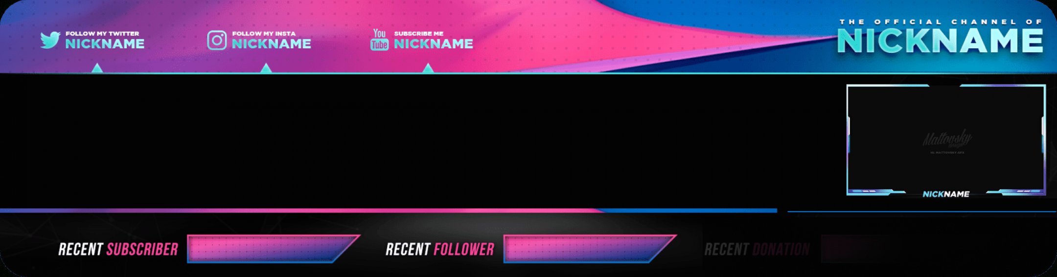 printable best live stream overlay makers  restream blog live stream banner template example