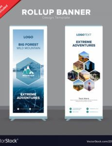 printable creative rollup banner design template royalty free vector roll up banner design template pdf