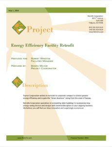 printable energy efficiency sample proposal  5 steps lighting retrofit proposal template example