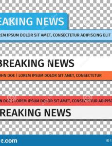printable lower third template set of tv news bar  news banner for news banner template pdf