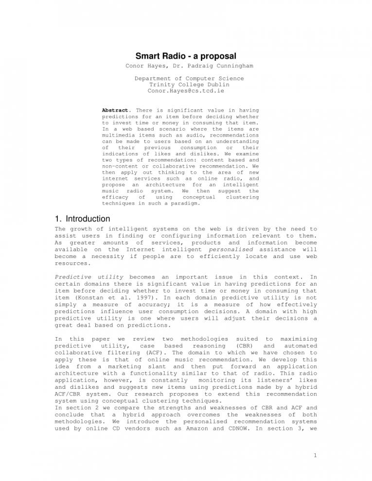 printable pdf smart radio  a proposal radio show proposal template pdf