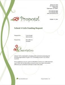 printable school funding request sample proposal  5 steps donor proposal template example