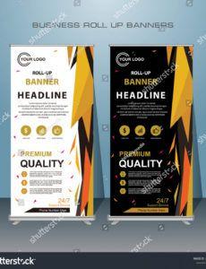 printable vector de stock libre de regalías sobre creative roll standing banner template example