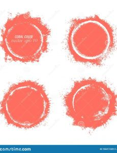 round banner of coral color explosive grunge banner round banner template example