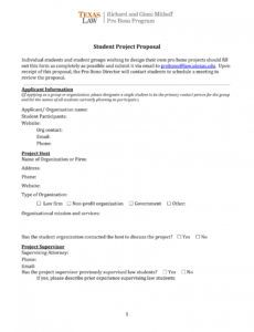 sample 11 student project proposal examples  pdf word  examples non profit project proposal template doc