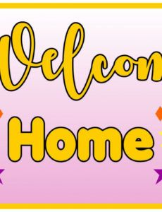 sample 7 best welcome home signs printable  printablee welcome home banner template pdf