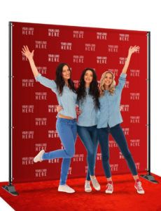 sample 8'x8' step and repeat red carpet banner template excel