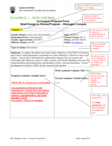 sample curriculum proposal form examples curriculum proposal template example