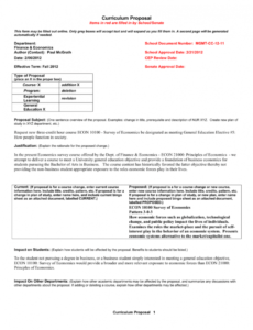 sample curriculum proposal  purdue university calumet curriculum proposal template doc