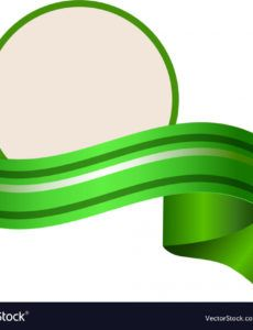 sample empty round template wuth relistic green banner vector image round banner template doc