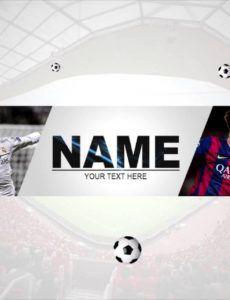 sample free soccer youtube banner 22 │by lastzak soccer banner template excel