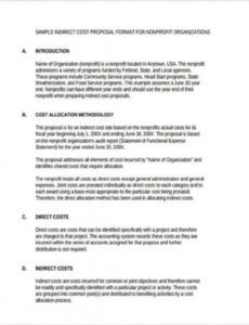 sample nonprofit proposal template examples non profit project proposal template word
