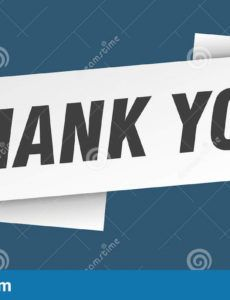 sample thank you banner template thank you ribbon label stock thank you banner template excel