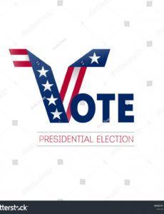 sample vector de stock libre de regalías sobre voting usa design political banner template doc