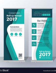 sample vertical roll up banner template royalty free vector image pull up banner template word