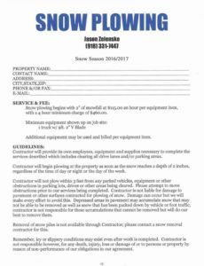 snow removal contract template ~ addictionary snow removal proposal template example