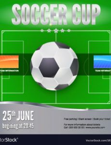 soccer football banner template for game vector image soccer banner template doc