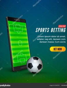 sports betting online web banner template smartphone with football field  on screen and soccer ball vector illustration 201297270 football banner template word