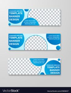 templates of horizontal banners with round and vector image horizontal banner template doc