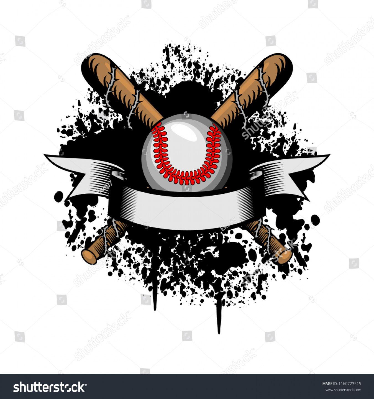 vector de stock libre de regalías sobre baseball team logo baseball banner template example