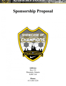 writing a sports sponsorship application with samples sports team sponsorship proposal template word