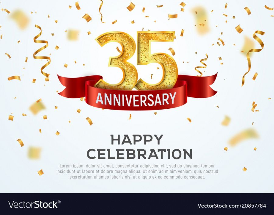 35 years anniversary banner template happy anniversary banner template excel