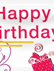 editable birthday banners  design a custom birthday banner today  banners first birthday photo banner template pdf