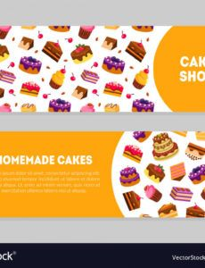 editable cake shop homemade cakes banner templates set vector image cake banner template example
